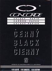Uhlový papír 030 (černý/100ks)