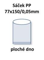 Sáček PP 77x150/0,05mm ploché dno