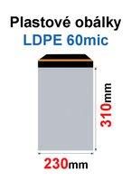 Obálka zasílací plastová 230x310+40mm, 60mic, (50ks) samolepící