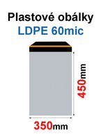 Obálka zasílací plastová 350x450+40mm, 60mic, (50ks) samolepící