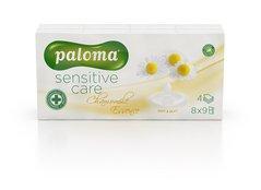 Kapesníčky bílé s vůní PALOMA Sensitive Care Chamomile Essence   4vrst.