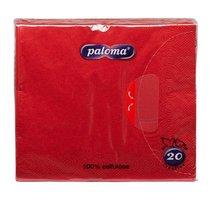 Ubrousky 33x33cm, červené, (20ks/15bl) 3vrst, PALOMA