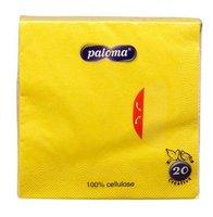 Ubrousky 33x33cm, žluté, (20ks/15bl) 3vrst, PALOMA