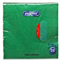 Ubrousky 33x33cm, zelené, (20ks/15ks) 3vrst, PALOMA