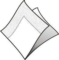 Ubrousky 33x33cm, bílé, (20ks/  ) 3vrst, GASTRO