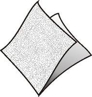 Ubrousky 24x24cm, bílé, (500ks/8bl) 1vrst, GASTRO