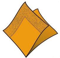 Ubrousky 33x33cm, oranžové, (50ks/48bl) 2vrst, GASTRO