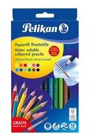 Pastelky akvarelové PELIKAN - 12 barev