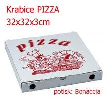 Krabice PIZZA 32x32x3cm 1/0 tisk (Ristorante Bonaccia)