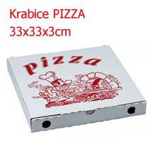 Krabice PIZZA 33x33x3cm 1/0 tisk ( 50ks/bl)