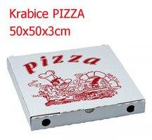 Krabice PIZZA 50x50x3cm 1/0 tisk ( 50ks/bl)