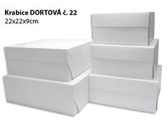 Krabice DORTOVÁ DMB 22x22x 9 (50ks/bl) č.22 900.22