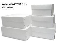 Krabice DORTOVÁ DMB 22x22x9  (10ks/bl) zak.0180