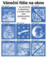 Vánoční okenní dekorace, střední velikost, 731-743
