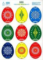 Velikonoční okenní fólie 33x24cm 581-586