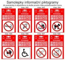 Samolepky informační piktogramy, 641-676