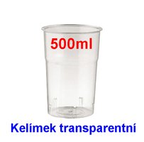 Pohárek 150 PLC /500ml transp.20x50ks