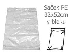 Sáček PE 32x52/40my trhací v bloku 50ks