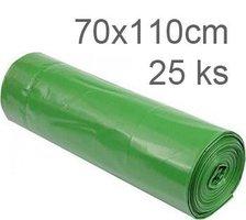 Pytle odpadní 70x110cm/ 50my zelené                  25ks