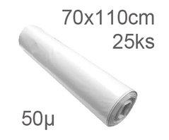 Pytle odpadní 70x110cm/50my transparentní       25ks