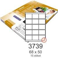 Etikety RAYFILM,A4/100lstr. 68x50mm, bílé matné inkjet/laser/ R0100.3739A