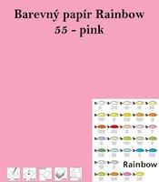 Papír RAINBOW A4/160g/250, 55 - pink, růžová