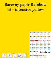 Papír RAINBOW A4/160g/250, 18 - intensive yellow, intenzivní žlutá