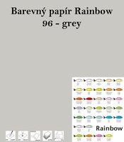 Papír RAINBOW A4/160g/250, 96 - grey, šedá