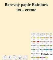 Papír RAINBOW A4/160/250, 03 -creme, krémová