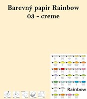 Papír RAINBOW A4/160g/250, 03 -creme, krémová