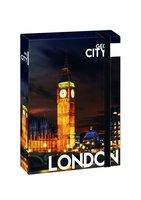Box na sešity s gumou A4 Jumbo London  1-45117