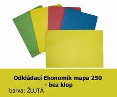 Mapa odkládací 250 Ekonomik HIT, žlutá, 200g, 1ks/100, 138.54