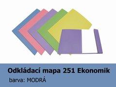 Mapa odkládací 251 Ekonomik HIT, modrá, 200g, 1 klopa, 1ks/100, 139.51
