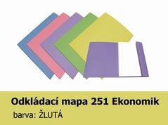 Mapa odkládací 251 Ekonomik HIT, žlutá, 200g, 1 klopa, 1ks/100, 139.54