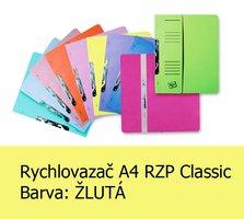 Rychlovazač RZP A4, Classic HIT, Žlutý, 240g, 1ks/50, závěsný s potiskem - půlený, 105.03