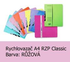 Rychlovazač RZP A4, Classic HIT, Růžový, 240g,1ks/50, závěsný s potiskem - půlený, 105.04