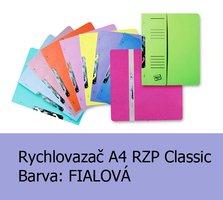 Rychlovazač RZP A4, Classic HIT, Fialový 240g,1ks/50, závěsný s potiskem - půlený, 105.06
