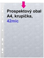 Obal prospektový A4/EURO 42my, krupička, 1ks/100 PH 002