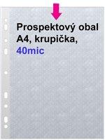 Obal prospektový A4/EURO 40my, krupička, 1ks/100 E40
