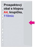 Obal prospektový A4/EURO 110my s klopou, krupička, 1ks/20