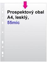 Obal prospektový A4/EURO 55my, čirý, 1ks/100