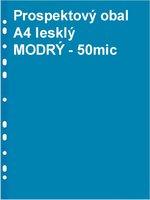 Obal prospektový A4/EURO 50my, modrý, lesklý, 1ks/100PH 101M