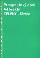 Obal prospektový A4/EURO 50my, zelený, lesklý, 1ks/100 PH 101Z