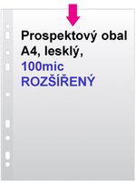 Obal prospektový A4/EURO 100my MAXI rozšířený, 1ks/50, 2-050