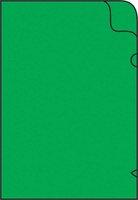 Zakládací obal na doklady L A4 silný, 215x310mm, zelený, 1ks/50, 361019