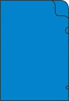 Zakládací obal na doklady L A4 silný, 215x310mm, modrý, 1ks/50, 361020