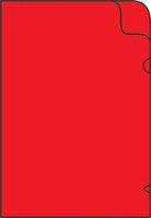 Zakládací obal na doklady L A4 silný, 215x310mm, červený, 1ks/50, 361022