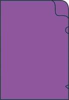 Zakládací obal na doklady L A4 silný, 215x310mm, fialový, 1ks/50, 361021