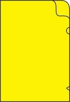 Zakládací obal na doklady L A4 silný, 215x310mm, žlutý, 1ks/50, 361023