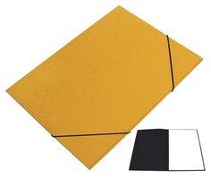 Mapa odkládací 250 s gumičkou PREŠPÁN HIT, žlutá, 350g, 1ks/20, 132.05